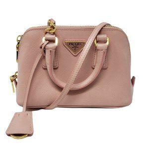 Auth Prada Mini Promenade Saffiano Crossbody Bag